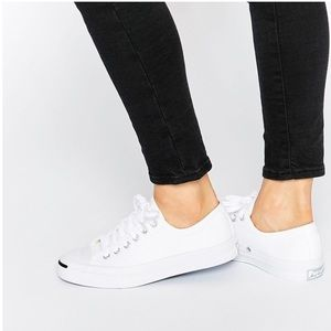 Jack Purcell Converse White Canvas Low Tops